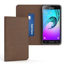 Tasche für Samsung Galaxy J3 (2016) Vintage Cover Handy Schutz Hülle Case Braun