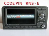 Recuperation Code Pin pour autoradio GPS RNS-E Audi A3 S3 A4 A6 TT R8
