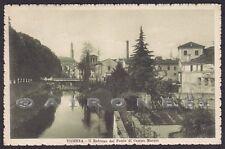VICENZA CITTÀ 86 PONTE Fiume RETRONE Cartolina viaggiata 1915
