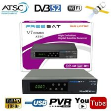 Freesat V7 Combo Satellite Receiver Full 1080P DVB-S2 + ATSC Support Powervu New