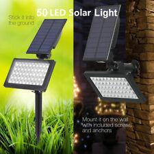 Solar Power 50 LED Spot light Landscape Outdoor Garden Pathway Waterproof Lamp
