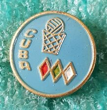 CUBA BASKETBALL FEDERATION  OLD PIN BADGE