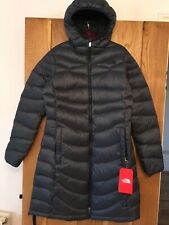Womens North Face Coat Jacket Uper West Side Blue Goose Down Fill Medium M NEW