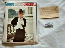 Vintage Vogue Paris Original Laroche Suit & Blouse Pattern 1608 & Tag 1960s