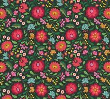 Lewis & Irene - 'Maya' Folksy flowers on Black