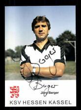 Jörg Berger Autogrammkarte Hessen Kassel 1983-84 Original Signiert