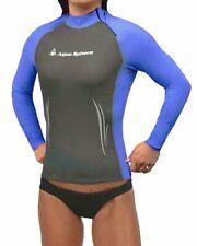 Aqua Sphere Aqua Skins Womens Long Sleeve Swim Skin (Grey/Blue, Large)