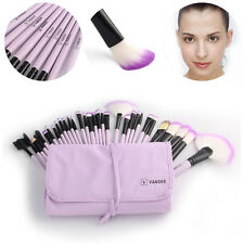 32PCS Professional Cosmetic Eyebrow Shadow Blending Makeup Brush Set Purple