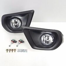 Clear Fog Driving Lights For 2014-2016 Subaru Forester 2.5 w/ Bezel Bulbs Set Sj