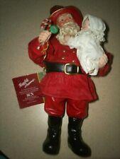 Vintage 1993 Possible Dreams Clothtique Fireman Santa With Baby Santa and Child