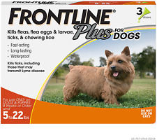 Plus Flea and Tick Treatment for Dogs Small Dog, 5-22 Pounds 3 Doses Waterproof