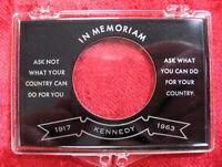 "John F. Kennedy JFK Memorial ""Ask Not..."" Single Half Dollar Coin Snap Holder"