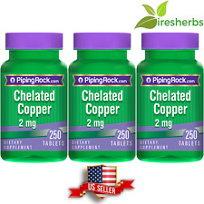 CHELATED COPPER 2mg AMINO ACID CHELATE RED BLOOD CELL SUPPLEMENT 750 TABLET PILL