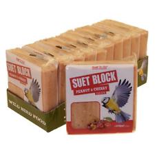 *BEST Wild Bird Feed Peanut Cherry Block Nutritious Suet Blocks Feeder 10 PACK