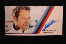 Card BMW Motorsport Team RMG DTM 2013 #16 Andy Priaulx (GBR) Signed