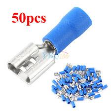 50pcs Set Female Spade Blade Wire Connectors Insulated Crimp Terminal 1.5-2.5mm²