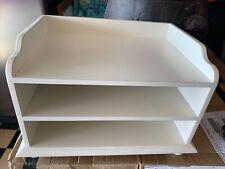 White Wood Desk File Organizer