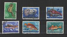 Yougoslavie 1956 faune marine 6 timbres oblitérés / T2057