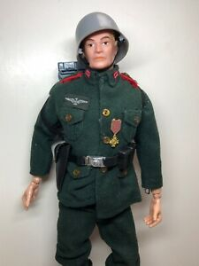 "12"" Vintage Hasbro GI Joe German Blonde Soldier Uniform 1960's All Original"