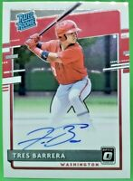 2020 Donruss Optic Rated Rookie TRES BARRERA Autograph Rookie #RRS-TB Nationals