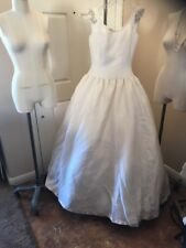 Amsale Cream Ball Gown Wedding Dress Size 10 New
