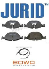 For BMW 535i GT 550i 650i 740Li 750i Front Brake Pad Set & Sensor Jurid/Bowa