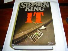 """GOOD+ CONDITION""  IT by Stephen King (1986) HARDCOVER W/ DUST JACKET"
