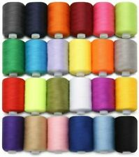 24 Assorted Colors Polyester Cotton Sewing Machine Thread Yard Set Reel Spool