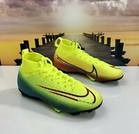 Nike Mercurial Jr Superfly 7 Elite MDS FG BQ5420-703 Yellow Green Size 4.5 Youth