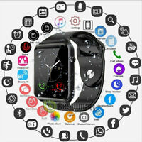 Waterproof Bluetooth Smart Watch W/Cam Phone Mate For iphone IOS Android Black