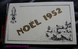 PROGAMME NOEL 1952 1ére CCS LEGION ETRANGERE SIDI-BEL-ABBES