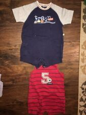 18 24 m Carter's outfit LOT of 2 outfits red blue Train EUC