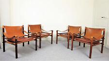 Fauteuils Vintage scandinave d'Arne Norell 1960 modèle Sirocco palissandre cuir