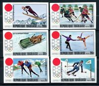 Togo MiNr. 888-93 B postfrisch MNH Olympia 1972 Sapporo (Oly1737