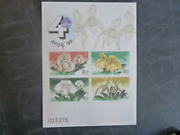 1992 THAILAND APOC ORCHIDS 4 STAMP MINI SHEET MNH IMPERF #1