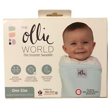 New The Ollie World Blue Swaddle One Size The Smarter Swaddle With Washing Bag