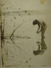 "1917 Original Gelatin Photo NUDE ""Lady of the Lake"", Adelstein, Samuel Copyright"