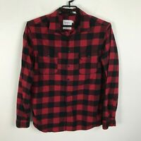 Goodfellow Flannel Lumberjack Shirt Mens Size L Plaid Long Sleeve Cotton Red