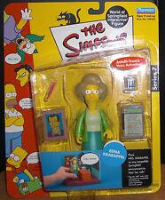 The Simpsons Interactive Figure Series 7 EDNA KRABAPPEL NIB Toy