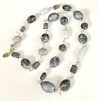 SILPADA 925 Sterling Silver Blue Chalcedony Sodalite Pearl Necklace N1308