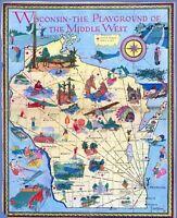Monterey California Pebble Beach District 1929 pictorial map POSTER 50580
