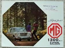 Mg 1300 MK II 2 puertas sedán COCHE FOLLETO de ventas de mayo de 1969 #2587B