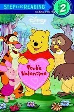 Disney POOH'S VALENTINE Step into Reading  2    Soft Cover  32 Pages