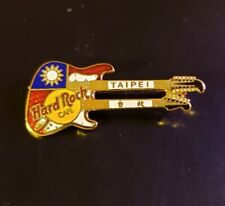 Hard Rock Cafe Pin Taipei - Flag-Colored Doubleneck (Translucent Red) - (#9558)