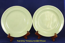 "Vintage Poole Pottery Streamline Cameo Celadon Green 7.5"" Side Plate x2 1952-55"