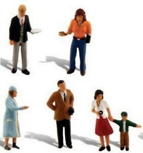 HO Scale - People Going Places, 5 PCS. - Everything in photo - WOO-A1959