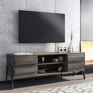 Modern TV Stand for up to 65'' Flat Screen, Wood TV Console Storage Cabinet