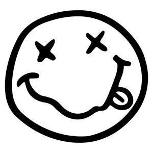 "5"" NIRVANA SMILE Vinyl Decal Sticker Car Window Laptop Music Kurt Cobain Rock"
