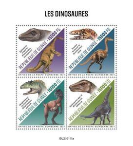 Guinea - 2021 Dinosaurs, Plateosaurus - 4 Stamp Sheet - GU210111a