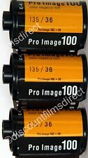 3 x Kodak  Pro Image 100 35mm 36 exposure Colour Print Film - 1st CLASS POST